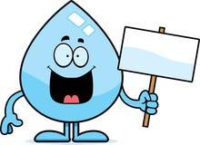 Segno della goccia di acqua del fumetto illustrazione vettoriale