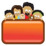 Segno della holding della famiglia, afroamericano Fotografia Stock