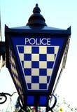 Segno della lampada della stazione di polizia, Scozia Immagini Stock