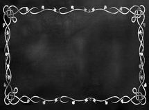 Segno della lavagna o della lavagna con il confine Fotografia Stock