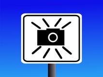 Segno della macchina fotografica di velocità Fotografia Stock Libera da Diritti