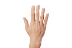 Segno della mano immagini stock