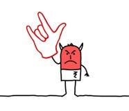 Segno della mano del diavolo Fotografia Stock