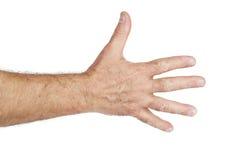 Segno della mano dell'uomo fotografie stock