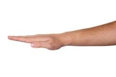 Segno della mano dell'uomo Fotografia Stock Libera da Diritti