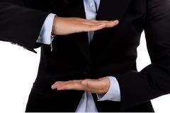 Segno della mano della donna di affari Immagine Stock Libera da Diritti