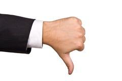 Segno della mano isolato Fotografia Stock