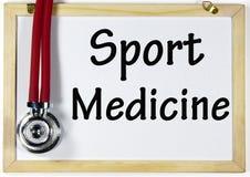 Segno della medicina di sport Immagine Stock Libera da Diritti
