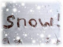 Segno della neve immagini stock libere da diritti