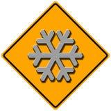 Segno della neve Fotografie Stock