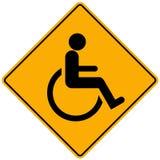Segno della persona invalida Fotografie Stock