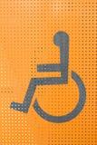 Segno della persona invalida Fotografia Stock Libera da Diritti