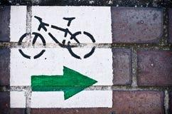 Segno della pista ciclabile Fotografia Stock Libera da Diritti