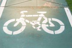 Segno della pista ciclabile Immagini Stock