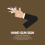 Segno della pistola della mano Immagine Stock