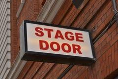 Segno della porta di fase del teatro Immagini Stock Libere da Diritti