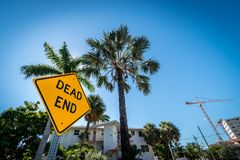 Segno della posta del vicolo cieco, Fort Lauderdale, Florida, Stati Uniti d'America fotografie stock libere da diritti