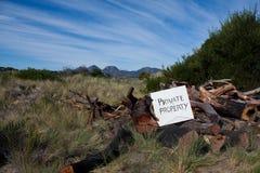 Segno della proprietà privata Fotografia Stock Libera da Diritti