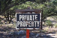 Segno della proprietà privata Fotografie Stock