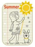Segno della ragazza di estate fotografie stock