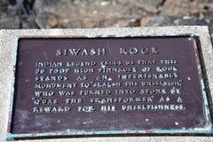 Segno della roccia di Siwash fotografia stock libera da diritti