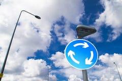Segno della rotonda. immagini stock libere da diritti