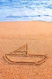 Segno della sabbia di navigazione Fotografia Stock Libera da Diritti