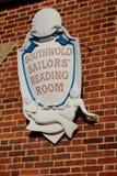 Segno della sala di lettura dei marinai di Southwold Immagini Stock