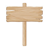 Segno della scheda di legno di vettore Fotografia Stock Libera da Diritti