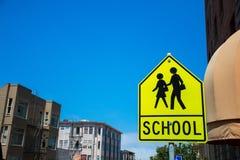 Segno della scuola Immagini Stock Libere da Diritti