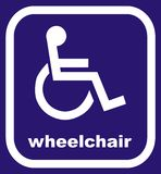 Segno della sedia a rotelle Immagine Stock