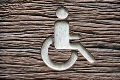 Segno della sedia a rotelle immagine stock libera da diritti