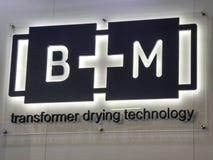 Segno della società di B+M Fotografia Stock Libera da Diritti