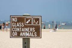 Segno della spiaggia Fotografia Stock Libera da Diritti
