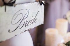 Segno della sposa Fotografia Stock Libera da Diritti