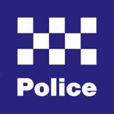 Segno della stazione di polizia Fotografie Stock Libere da Diritti