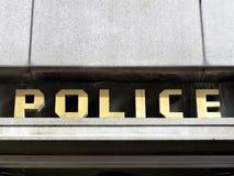 segno della stazione di polizia degli anni 40 immagine stock libera da diritti