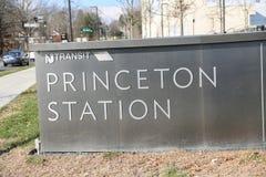 Segno della stazione di Princeton fotografia stock libera da diritti