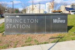 Segno della stazione di Princeton fotografie stock libere da diritti