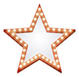Segno della stella Fotografia Stock