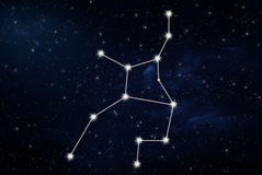 Segno della stella dell'oroscopo del Vergine Fotografie Stock Libere da Diritti