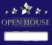 Segno della stella della casa aperta di agente immobiliare Fotografie Stock Libere da Diritti