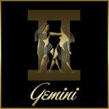 Segno della stella dello zodiaco dei Gemini Fotografia Stock Libera da Diritti