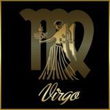 Segno della stella dello zodiaco del Virgo illustrazione vettoriale