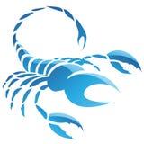 Segno della stella dello zodiaco di scorpione Immagine Stock