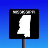 Segno della strada principale del Mississippi Immagine Stock
