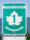 Segno della strada principale del trasporto Canada Immagini Stock