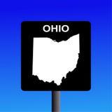 Segno della strada principale dell'Ohio illustrazione vettoriale