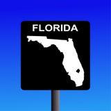 Segno della strada principale della Florida illustrazione di stock