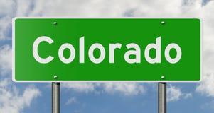 Segno della strada principale per Colorado Fotografia Stock